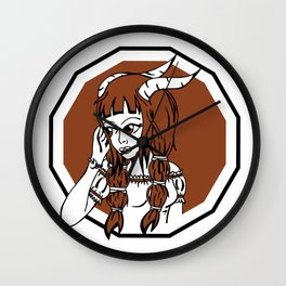 Astro Capricorn woman Wall Clock