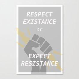 Expect Resistance Canvas Print