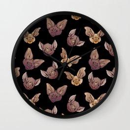 Black bat  party Wall Clock