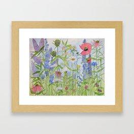 Flowers Alive Watercolor Framed Art Print