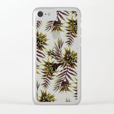 Aechmea Fasciata - Dark Green / Brown Clear iPhone Case