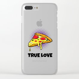 Pizza Love Clear iPhone Case