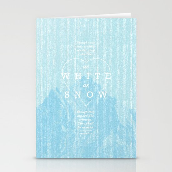 as white as snow Stationery Cards