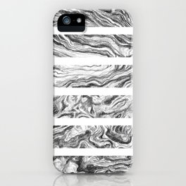 Point Lobos Stone- Stripes iPhone Case