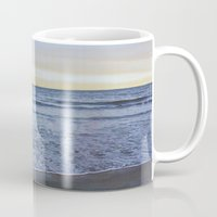 rileigh smirl Mugs featuring Ocean Sunset by Rileigh Smirl