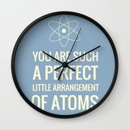 Perfect Arrangement of Atoms Wall Clock