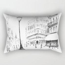 Sketch of a Street in Paris Rectangular Pillow