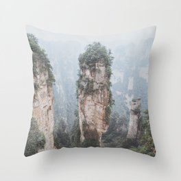 Zhangjiejia National Forest Park Throw Pillow