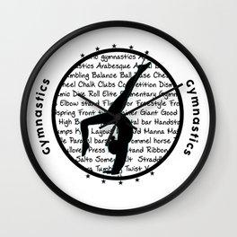 Five Stars Gymnastic Circle Wall Clock