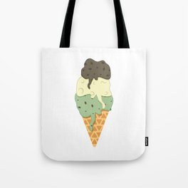 Mint-Vanilla-Chocolate Ice Cream Sundae Tote Bag