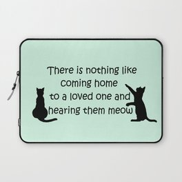 Coming Home to a Cat Laptop Sleeve