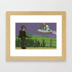 The UFO Framed Art Print
