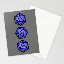 Blue d20 Stationery Cards