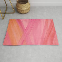 Pink Abstract Lines Rug