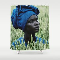 model Shower Curtains featuring Model by Jada Mosely