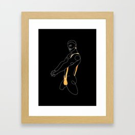 lonniedraws x corey evans Framed Art Print