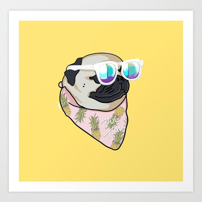 Pug Time Art Print