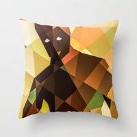 groot Throw Pillows featuring Groot by Eric Dufresne