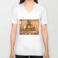 meditation V-neck T-shirts featuring Meditation by Paola Canti