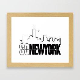 SO NEWYORK SKYLINE PRINT  Framed Art Print