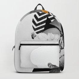 collage art (girl) Backpack