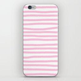 Pink Stripes Horizontal iPhone Skin