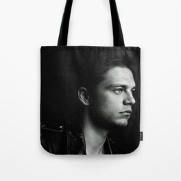 Black and White SEBASTIAN STAN #3 Tote Bag