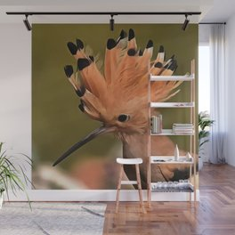Beautiful Hoopoe Bird With Crown Of Feathers Wall Mural