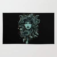 medusa Area & Throw Rugs featuring Medusa by miles to go