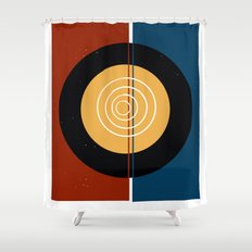 Abstraction Minimale Shower Curtain