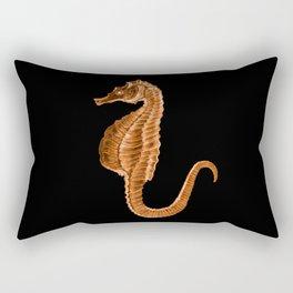 Seahorse ocean sea in black background Rectangular Pillow