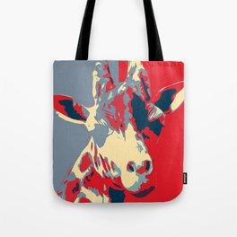 Giraffe for President Tote Bag
