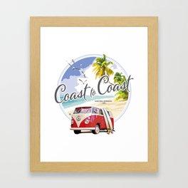 Surfer Van Framed Art Print