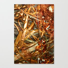 Copper and Metal Abstract Canvas Print