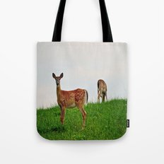 Backyard Deer Tote Bag