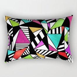 Geometric Multicolored Rectangular Pillow