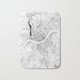 Cincinnati White Map Bath Mat