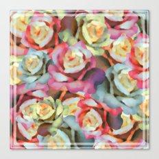 Technicolor Petal | Floral Canvas Print