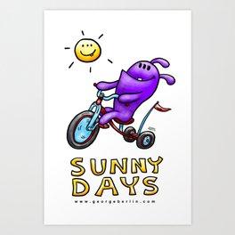 Sunny Days! Art Print