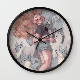 Lost in Dreamland: Land Wall Clock