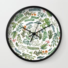 water color rotation garden Wall Clock