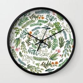water color rotation garden Wall Clock