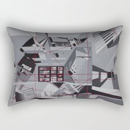 Red Horizons Rectangular Pillow
