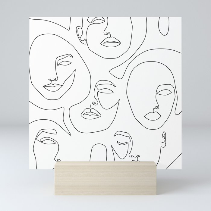 Her and Her Mini Art Print