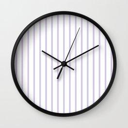 Vertical Lilac Stripes Pattern Wall Clock