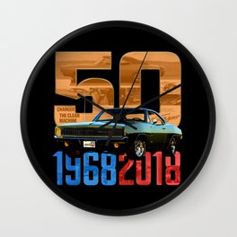 1968 Dodge Charger R/T - Happy Anniversary Wall Clock