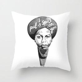Nina Simone - I Put A Spell On You Throw Pillow
