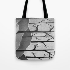 Abstract Forest Scene Tote Bag