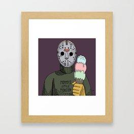 Jason loves ice cream Framed Art Print