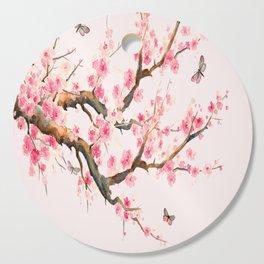 Pink Cherry Blossom Dream Cutting Board